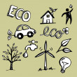 Royalty-Free Stock Vector Image: Eco Doodles