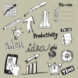 Royalty-Free Stock Vector Image: Productivity Doodles