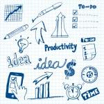 Productivity Doodles — Stock Vector