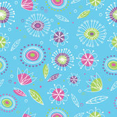 Floral seamless pattern 2 — Stock Vector