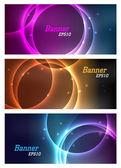 Cosmic banners — Stock Vector