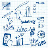 Productivity Doodles — Stockvector