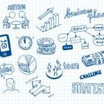 Business doodles — Stock Vector #14896697