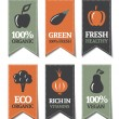 Organic Labels - Stock Vector