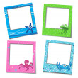 Stock Vector: Photo Frames With Cartoons
