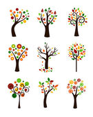 Autumn trees — Stock Vector