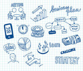 Business doodles — Vector de stock