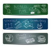 Business Doodles on a Blackboard — Stock Vector