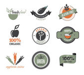 Organic icons and stamps — Vecteur
