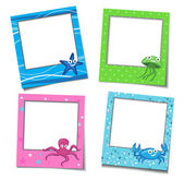 Photo Frames With Cartoons — Stock Vector