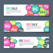 Three Sales Banners - Stock Vector