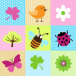 Stock Vector: Spring Cartoons