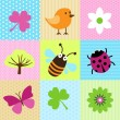 Spring Cartoons - Stock Vector
