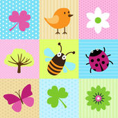 Spring Cartoons — Stock Vector