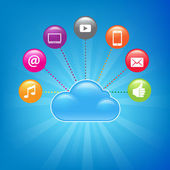 Cloud Computing Background — Stock Vector