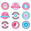 Beauty And Cosmetics Badges — Stock Vector