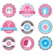 Beauty And Cosmetics Badges — Stock Vector #19931807