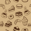 Stock Vector: Cakes And Desserts Seamless Pattern