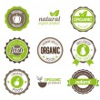 Organic Eco Badges — Stock Vector #22609647