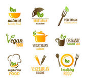 Vegetarian Food Icons — Stock Vector