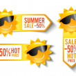 Stock Vector: Summer Sales Stickers