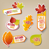 Autumn Sale Stickers — Stockvektor