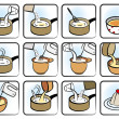 Stock Vector: Dessert Cooking Icons