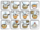 Dessert Cooking Icons — Stock Vector
