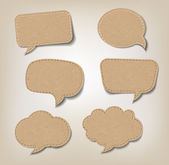 Cardboard Speech Bubbles — Stock Vector