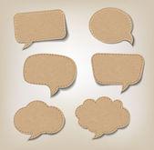 Cardboard Speech Bubbles — Stock Vector