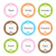Spice Labels — Stock Vector #25391559