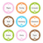 Spice Labels — Stock Vector