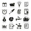 Productivity Icons — Stok Vektör