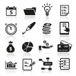 Productivity Icons — Stock Vector