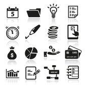 Productiviteit pictogrammen — Stockvector