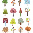 Collection of Cute Trees — Stock Vector #27261953