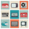 Retro Radio, TV and Other Electronic Equipment — Stock Vector #27351037