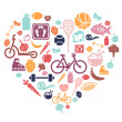 Healthy Lifestyle Background — Imagen vectorial