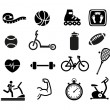 Exercise and Fitness Icons — Stock Vector