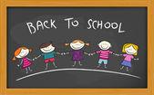 Back to school board — Stock Vector