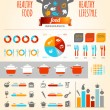 Healthy Food Infographics — Stock Vector