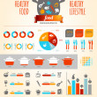 Stock Vector: healthy food infographics