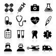 Collection of medical icons — Stock Vector
