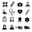 Stock Vector: Collection of medical icons