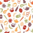 Food Seamless Pattern — Stock Vector