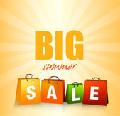 Summer Sales Background — Stock Vector