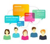 Creative Process Background — Stock Vector