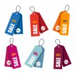 Collection of colorful price tags — Vector de stock