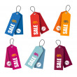 Stock vektor: Collection of colorful price tags