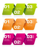 Infographics Banners — Stock Vector